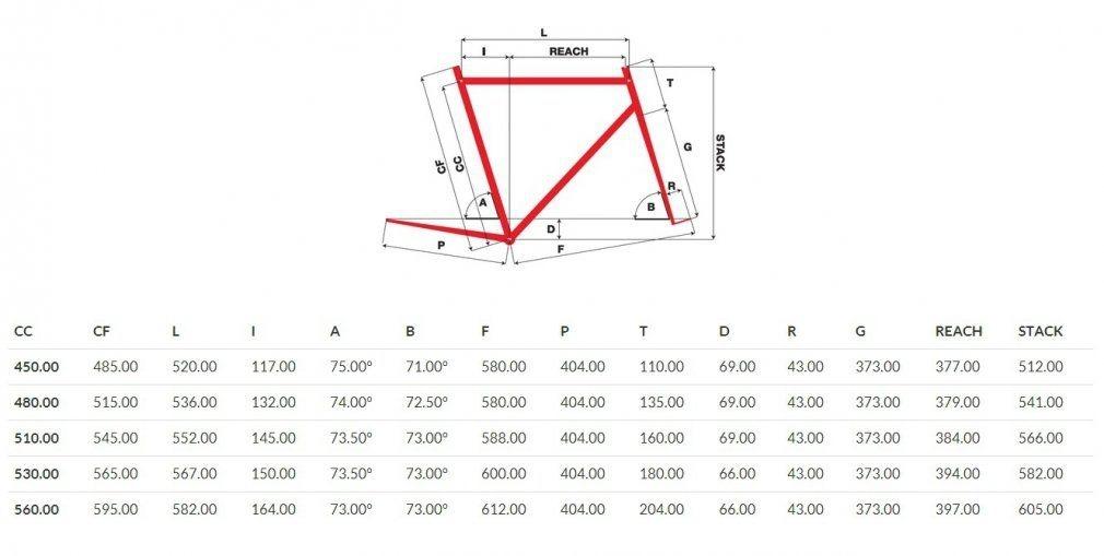Геометрия рамы Pinarello