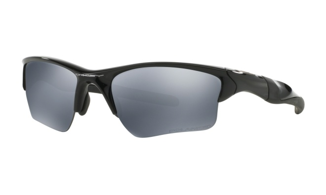 Очки спортивные Oakley Half Jacket 2.0 XL, чёрные Polished Black/Black Iridium Polarized