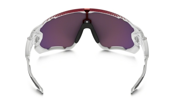 Очки спортивные Oakley Jawbreaker Prizm Road Tour De France Polished White, бело-красные