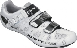 Велотуфли Scott Road Pro Shoe, бело-чёрные