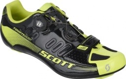 Велотуфли Scott Road Team Boa Shoe, чёрно-жёлтые